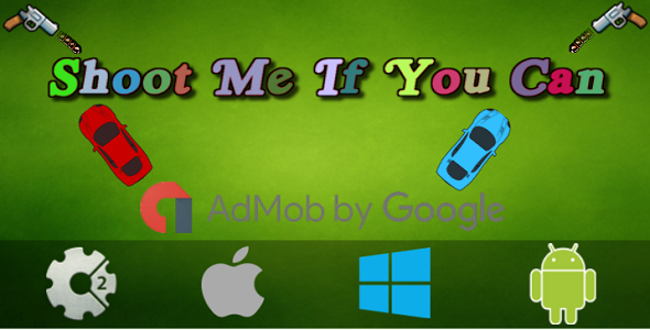 Shoot Me If You Can (Local Multiplayer) + Admob - Construct 2 Game
