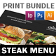 Steak House Menu Print Bundle