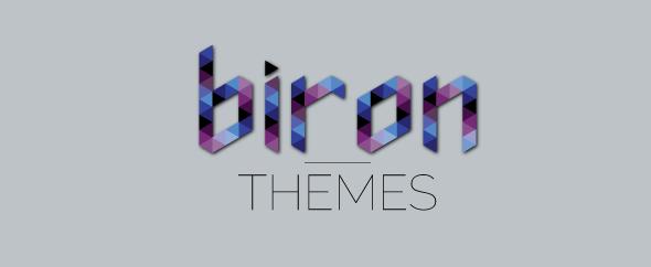 Biron themes logo ad