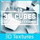 10 3D Cubes Background Textures