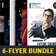 6 Minimal Party Flyers Bundle