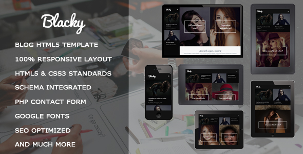 Blacky - Fashion Responsive HTML5 Template