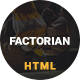Factorian - Minimal factory & industry HTML Template