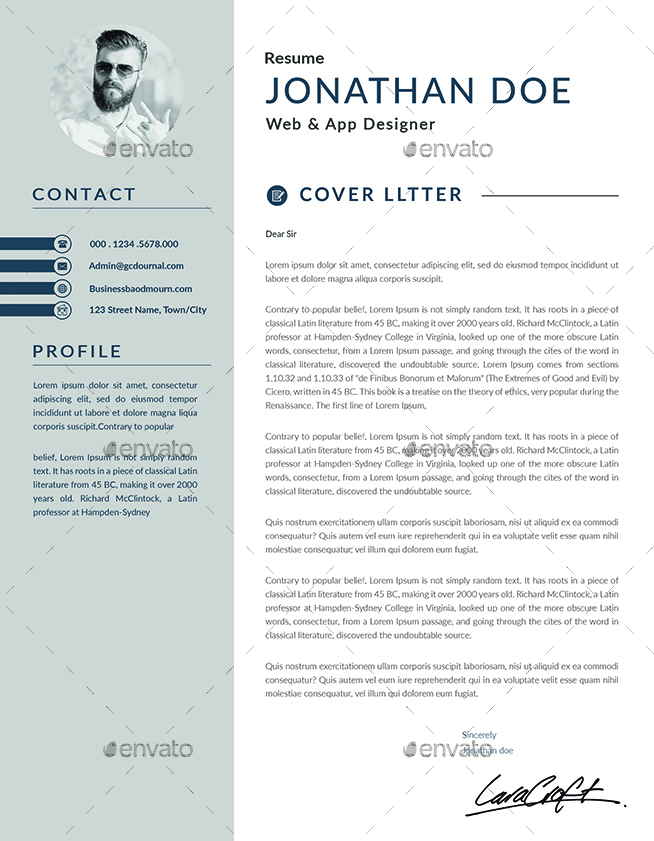 resume cv bundle by semdesigns graphicriver