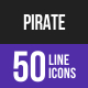 Pirate Line Inverted Icons