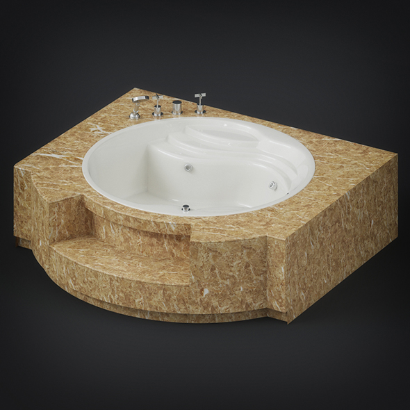 Jacuzzi Bathtub - 3DOcean Item for Sale