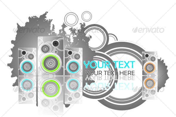 Party grungy design - Characters Vectors
