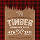 Lumberjack Party Flyer / Postcard