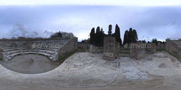 Ancient Theater HDRI - 3DOcean Item for Sale
