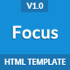 Focus - Multi Purpose App Landing Page Template