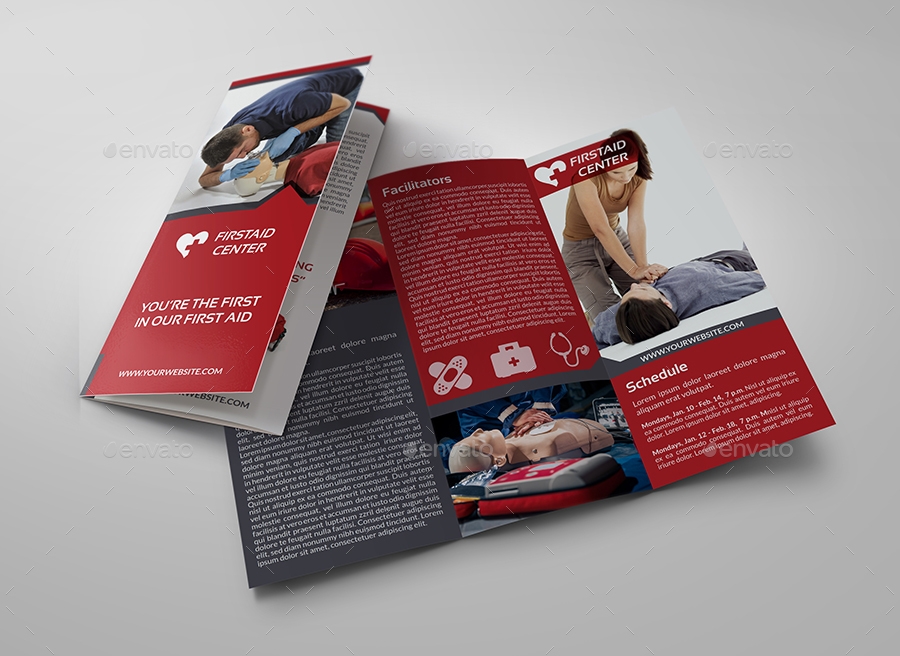 First aid advertising bundle by owpictures graphicriver for Aids brochure template