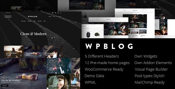 WPblog - Powerful Blog & Magazine WordPress Theme