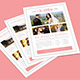 Modern Clean Simple Wedding Planner Flyer