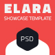 Elara - Full Screen App Showcase PSD Template