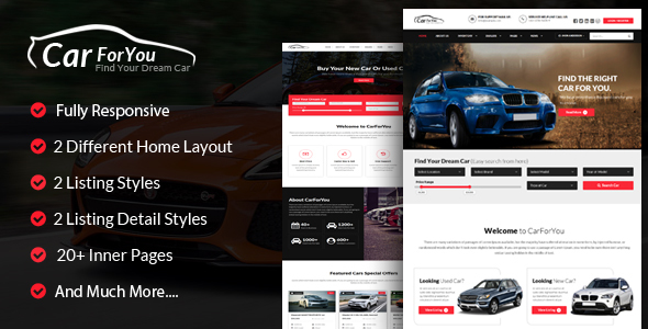 CarForYou – Responsive Auto Dealer HTML5 Template (Small business)