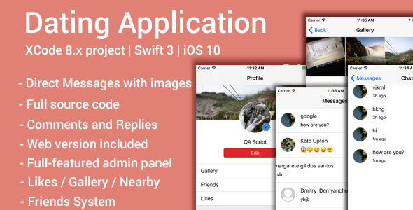 Datin App (iOS App and Website) - Swift 3