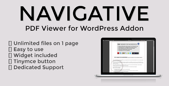 Navigative – PDF Viewer for WordPress addon