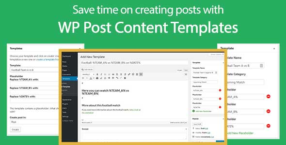 WP Post Content Template