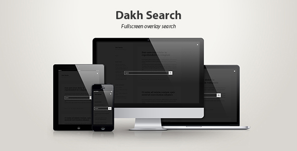 CodeCanyon Dakh Search Fullscreen Overlay Search 19354746