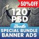 [Special Bundle] - Multipurpose Banner Ads - 120 PSD [08 Sets]