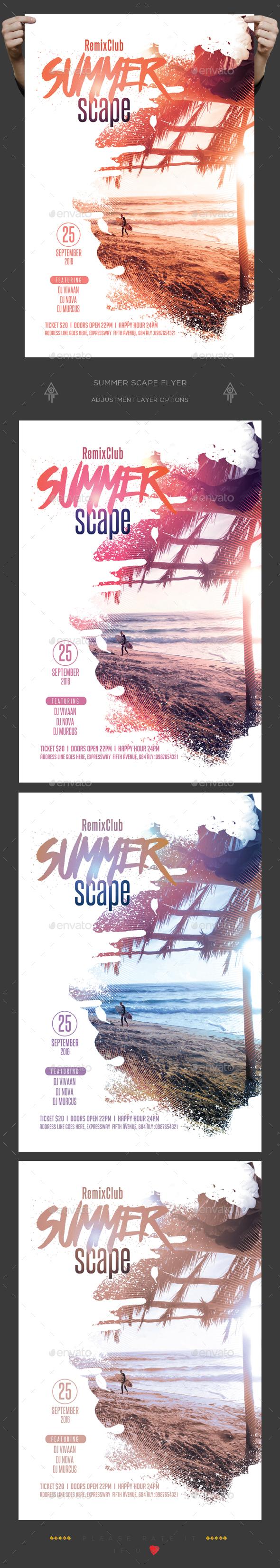 Summer Scape Flyer