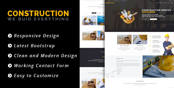 Construct  - WordPress Construction & Business Theme