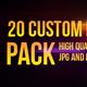 20 Custom Lens Flares Pack