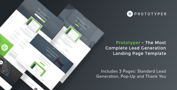 Prototyper - Instapage Lead Generation Landing Page Template
