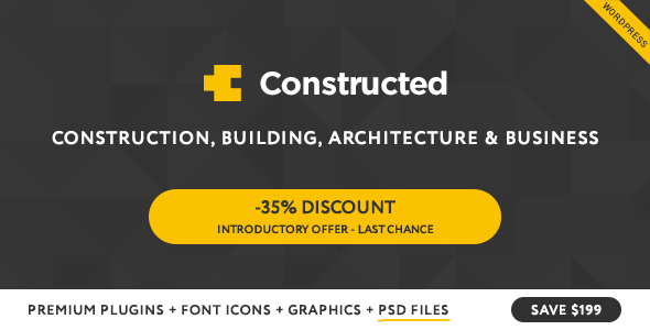 Download Constructed - Construction WordPress Theme
