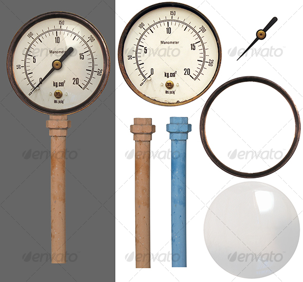 Graphic River Manometer Isolated Objects -  Industrial & Science 73692