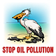 Stop Oil Pollution Ecological Emblem