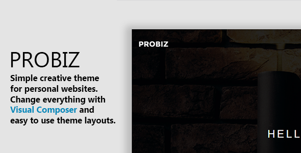 Download Probiz - Minimal WordPress Personal Portfolio Theme