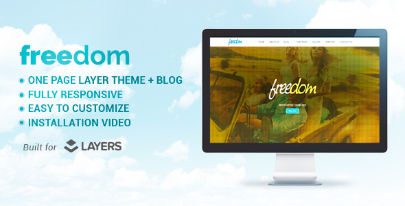 Freedom - Multipurpose Layers One Page WordPress Theme