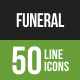 Funeral Line Green & Black Icons