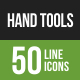 Hand Tools Line Green & Black Icons