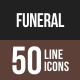 Funeral Line Multicolor Icons