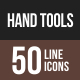Hand Tools Line Multicolor Icons