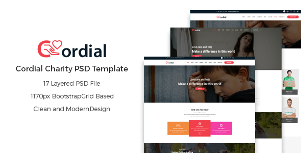 Cordial - Charity PSD Template