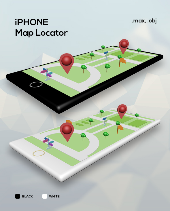 Smartphone Business Map Locator Infographic - 3DOcean Item for Sale
