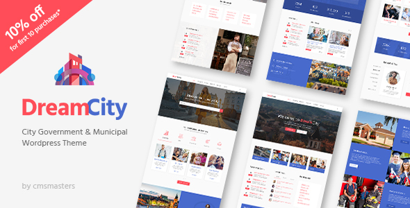 Dream City – City Portal &amp Government Municipal WordPress Theme (Political)