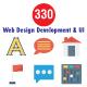 330 Web Design Development & UI  Flat icon