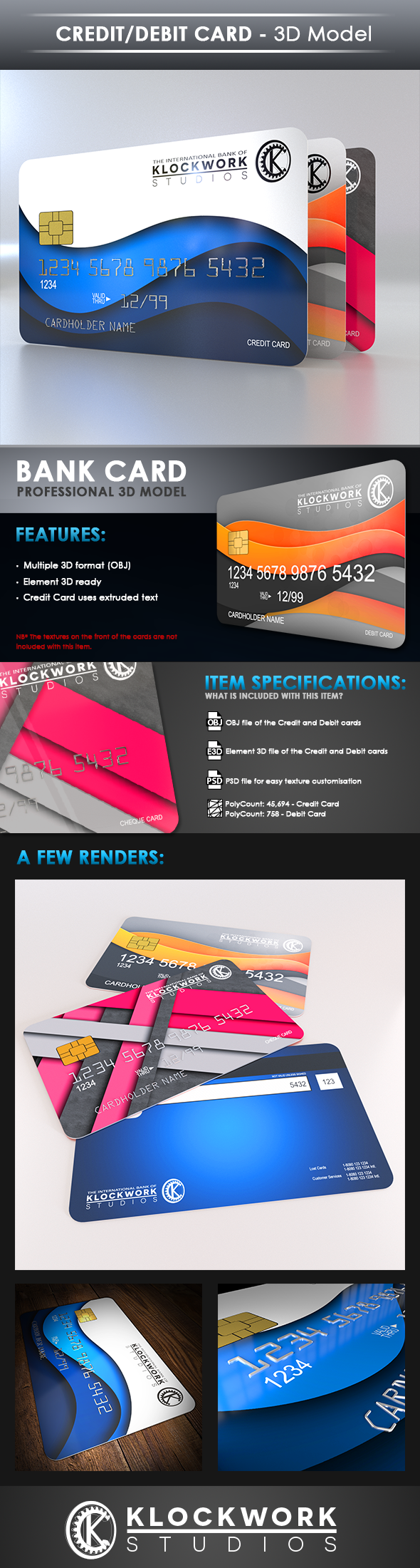 Credit/Debit card - 3DOcean Item for Sale