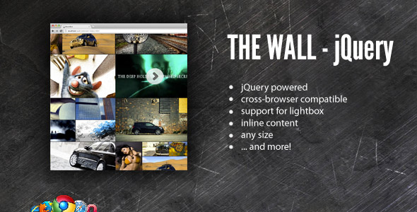 CodeCanyon The Wall Media Gallery jQuery powered 223915