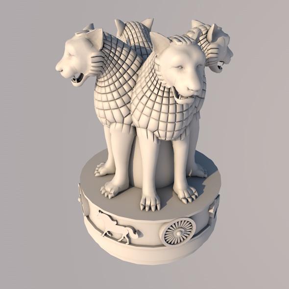 INDIAN NATIONAL EMBLEM - 3DOcean Item for Sale