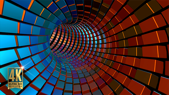 VideoHive VJ Colorful Flashing Light Tunnel 19400098