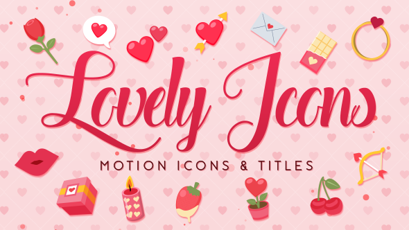 VideoHive Lovely Motion Icons & Titles 19400291