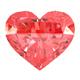 Red Heart Gemstone