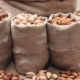 Sacks of Different Types Nuts