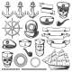 Download Vector Vintage Sailor Naval Icon Set