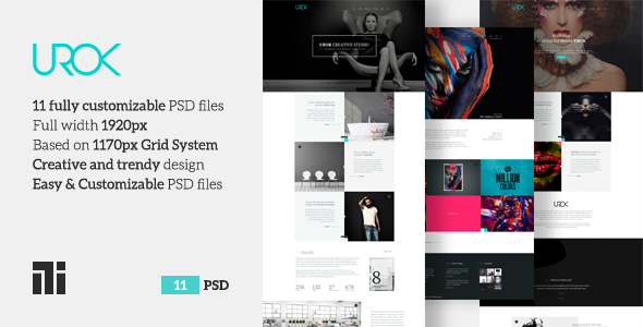 UROK - Creative Multipurpose PSD Template